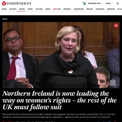Northern Ireland is now leading the way on women's rights – the rest of the UK must follow suit