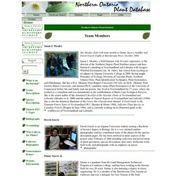 Northern Ontario Plant Database