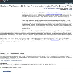 Northern VA Managed IT Service Provider Lists Security Tips For Remote Work