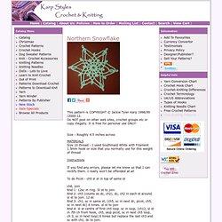Northern Snowflake Christmas Crochet Pattern