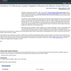 Northern VA Wholesale Lumber Suppliers Educates On Marine Grade Plywood