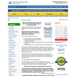Gluco-Sure: Natural Blood Sugar Support with Chromium, Agaricus, and Gencinia - NorthStar Nutritionals - Official Site