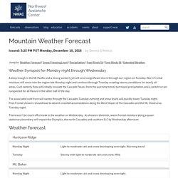 Northwest Avalanche Center — Mountain Weather Forecast