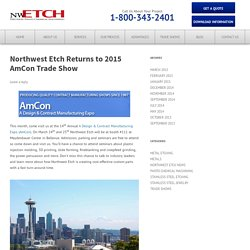 Northwest Etch Returns to 2015 AmCon Trade Show