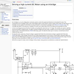 Driving a high current DC Motor using an H-bridge - Northwestern Mechatronics Wiki - Nightly