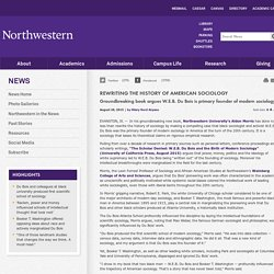 Rewriting the History of American Sociology: Northwestern University News