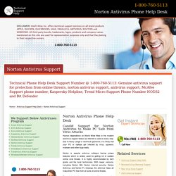 Norton Support, 360 Technical Help Number-800-760-5113