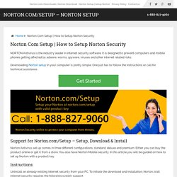 Norton.com/setup - Norton com setup