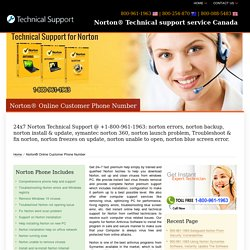 800-961-1963-Norton Customer Service Number Canada