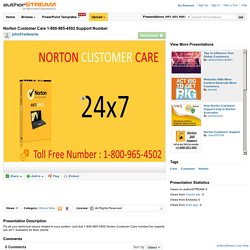 Norton Customer Care 1-800-965-4502 Support Number
