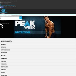 Layne Norton Peak Week: Nutrition