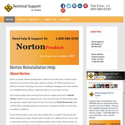 Norton Reinstallation Help, USA Toll-Free: +1-800-986-9249