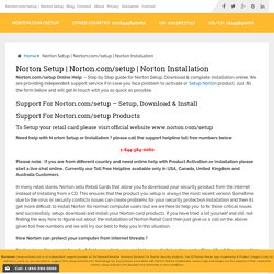 Get Support for Norton.com Setup - Dial Toll-free 1-888-827-9060
