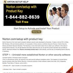 www.norton.com/setup with product Key - Norton Com Setup