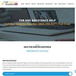 Norton Support Number UK 0800-098-8371