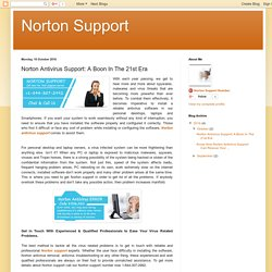 Norton Support: Norton Antivirus Support: A Boon In The 21st Era