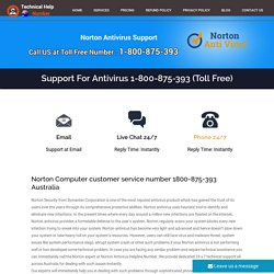 Norton Support Number Australia 1-800-875-393