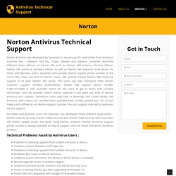 Norton support phone number 1-844-415-8200 USA