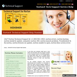 Norton Tech Support Service Help-800-961-1963