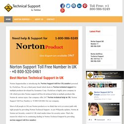 Norton UK Toll Free +1-800-986-9249, Technical Support- Support Online