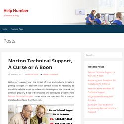 Norton Technical Support, A Curse or A Boon – Help Number
