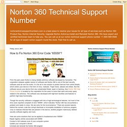 "Norton 360 Technical Support Number: How to Fix Norton 360 Error Code ""65559""?"