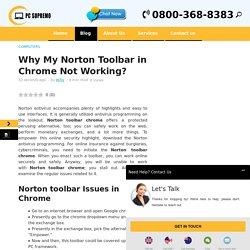 Norton Toolbar Chrome Not Working
