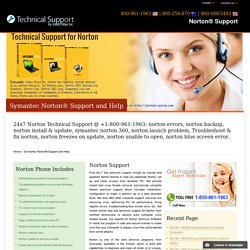 Norton® Support,Help-800-961-1963