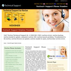 Norton® Support Phone Number-800-961-1963