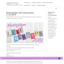 Nörttityttöjen 24h lukumaraton 2.-3.3.2019