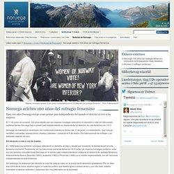 Noruega celebra 100 años del sufragio femenino