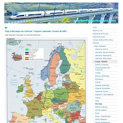 Noruega - Viajar en tren por Europa