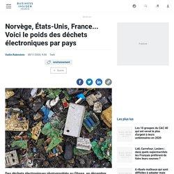 Norvège, États-Unis, France... Voici le poids des déchets électroniques par pays