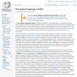 Norwegian language conflict - Wikipedia