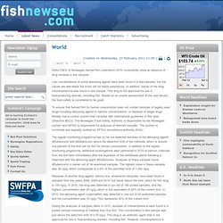 Norwegian farmed fish drug monitoring programme shows absence of residues