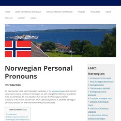 Norwegian Personal Pronouns - Learn Norwegian Naturally