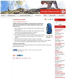Loading your pack - Useful tips - The Norwegian Trekking Association