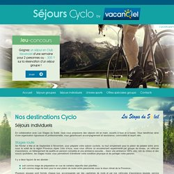 Nos destinations Cyclo