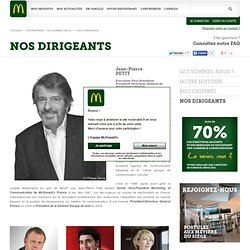 NOS DIRIGEANTS