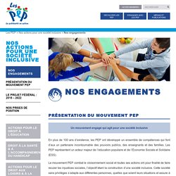 Nos engagements - LesPep