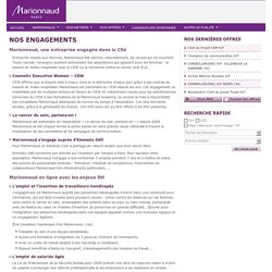 Nos engagements - Marionnaud