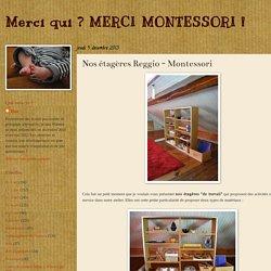 Merci qui ? MERCI MONTESSORI !: Nos étagères Reggio - Montessori