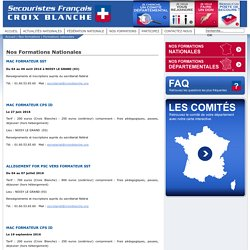 Nos Formations Nationales