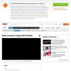 NOS Journaal 15 april 2013 20:00u public broadcasterTV
