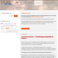 [FR] Patrimoine industriel/ Cilac, Comité d'information et de liaison pour l'archéologie, l'étude et la mise en valeur du patrimoine industriel