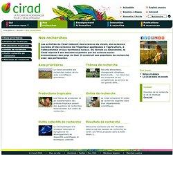 CIRAD - Nos recherches
