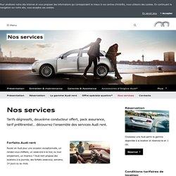 Nos services > Audi rent