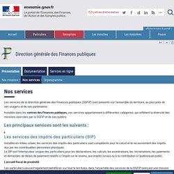 DGFIP - Nos services