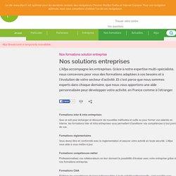 Nos solutions entreprises