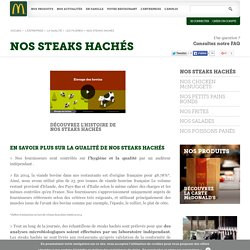 NOS STEAKS HACHÉS